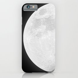 CHALK WHITE MOON iPhone Case