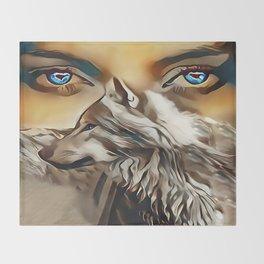 Spirit Of The Wolf Throw Blanket