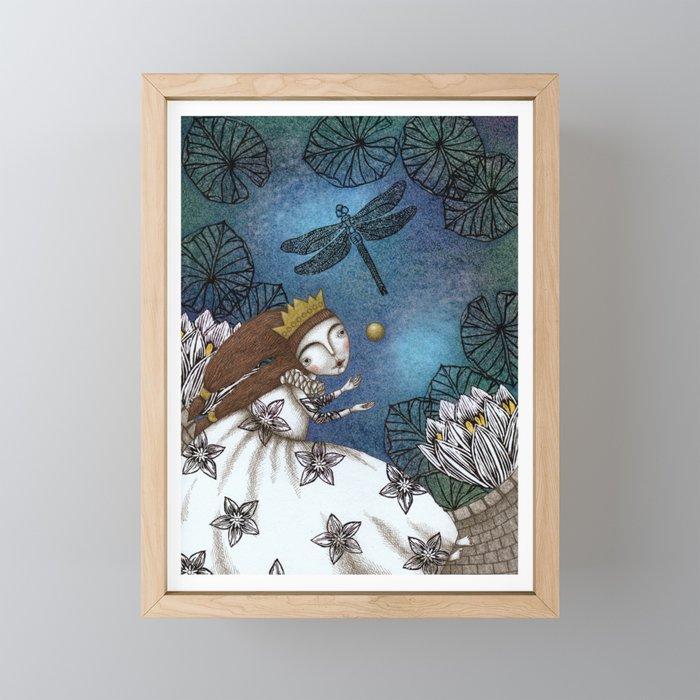 The Golden Ball Framed Mini Art Print