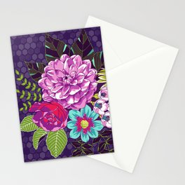 Bloomin' Beauties Violet Stationery Cards