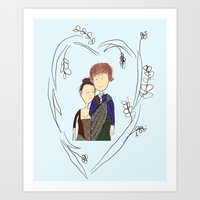 outlander Art Prints featuring Outlander by Sarcastic Savage