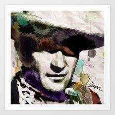 John Wayne Watercolor Painting Modern Abstract Art POP COLOR Art Print