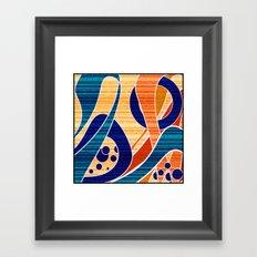 Blue orange abstract pattern .  Framed Art Print