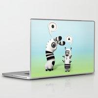 lama Laptop & iPad Skins featuring Lally Lama by Teodoru Badiu