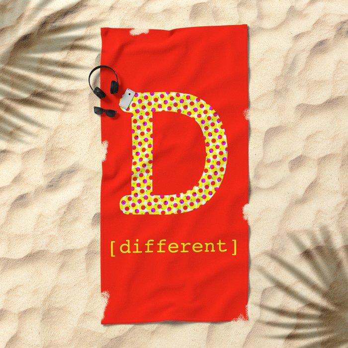 #D [different] Beach Towel