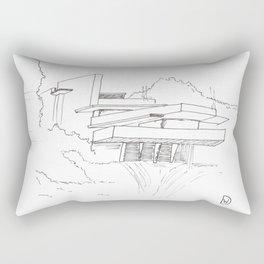 Fallingwater house Rectangular Pillow
