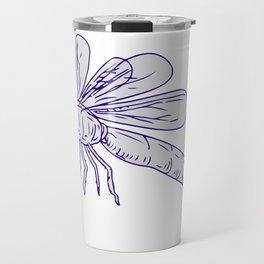 Dragonfly Flying Drawing Side Travel Mug
