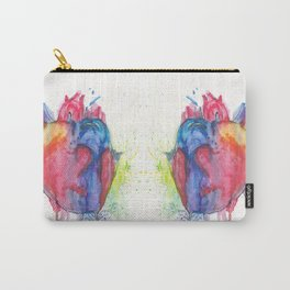 watercolour Heartbeats Carry-All Pouch