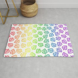 animal crossing villager nook shirt pattern gay pride Rug