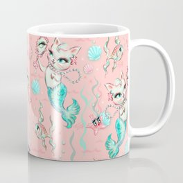 Merkittens with Pearls on blush Coffee Mug