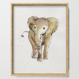 Baby Elephant 4 Serving Tray