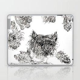 Scottish Terrier - Line Drawing Laptop & iPad Skin