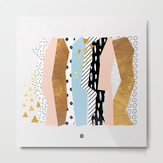 Geometric shapes 01 Metal Print