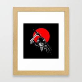 red moon battousai Framed Art Print