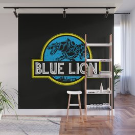 Blue Lion Wall Mural