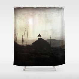Living in Ghost Town Shower Curtain