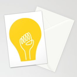 THE IDEA - cool art poster, Light, Scandinavian, Illustration, Fine Art, Cute Quirky Gift Stationery Cards