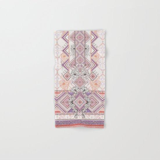 Aztec Lines Floral Hand & Bath Towel