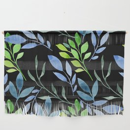 Blue and Green Leaves Wall Hanging