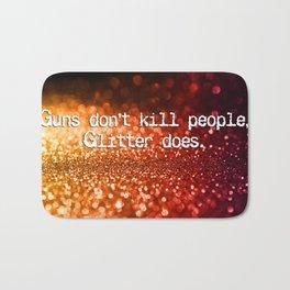 Guns versus glitter Bath Mat