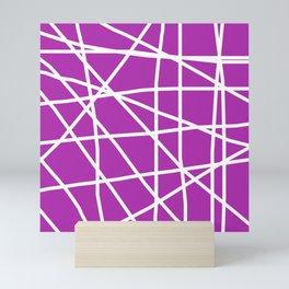 Doodle (White & Purple) Mini Art Print