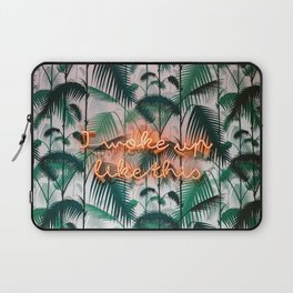 I woke up like this neon sign | Boho chique fine art photography print Laptop Sleeve