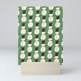 Jolly Green Snowguys Mini Art Print