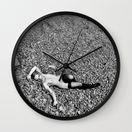 Naked recline by Frank Falcon Wall Clock
