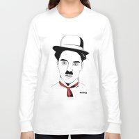 charlie chaplin Long Sleeve T-shirts featuring Charlie Chaplin by ArpanDholi