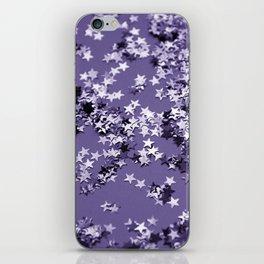 Ultra Violet Glitter Stars #1 #shiny #decor #art #society6 iPhone Skin
