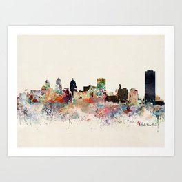 buffalo city new york Art Print