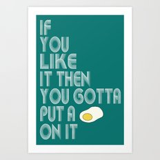 Single Egg Art Print