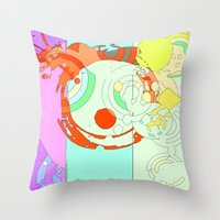 splash Throw Pillows featuring Splash by Iconic Arts