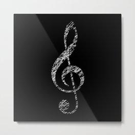 Invert scribble sol key Metal Print
