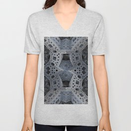 Fractal Art - spaceship drive Unisex V-Neck