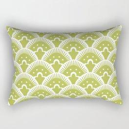 Fan Pattern Chartruese 201 Rectangular Pillow