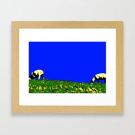 Bookends - Two Sheep - Cuckmere Haven, Sussex, UK Framed Art Print