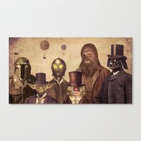 pop Canvas Prints featuring Victorian Wars  by Terry Fan