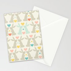 Bunnies and Hearts Stationery Cards
