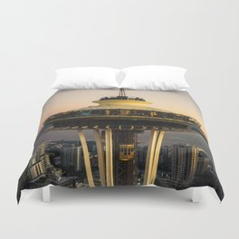 Space Needle (close-up) Duvet Cover
