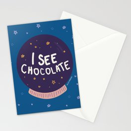 My future is chocolate Stationery Cards