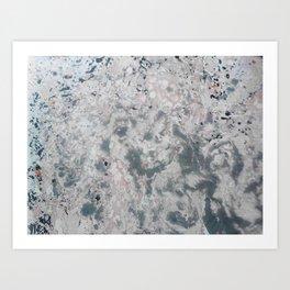 Marble blood Art Print
