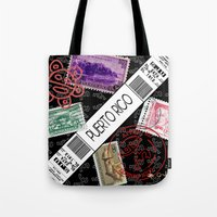puerto rico Tote Bags featuring Welcome to Puerto Rico by Barney Ortiz