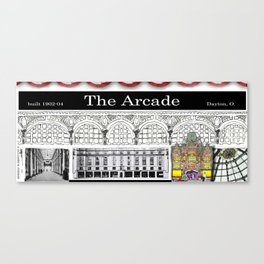 The Arcade of Dayton, O: A Mug Canvas Print