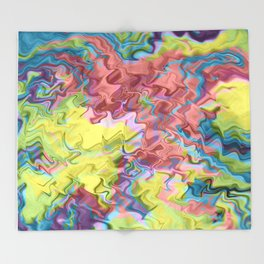Lost in Thought; Fluid Abstract 56 Throw Blanket