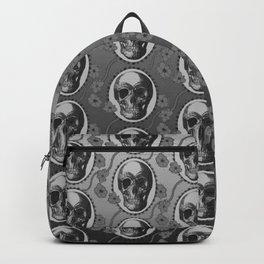 Skulls and Poppies - Antique Vintage Floral Skeleton Pattern Backpack