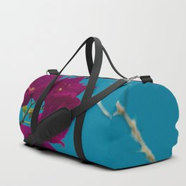 Pink and blue Duffle Bag