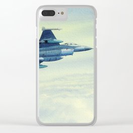 F-16 Fighting Falcon Aircraft Clear iPhone Case