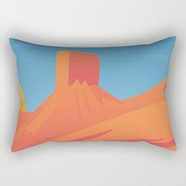 Desert Valley Landscape Scene Rectangular Pillow