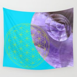 Mystical Flower of Life Amethyst #society6 Wall Tapestry